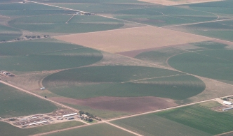 Aerial of Center Pivot Fields