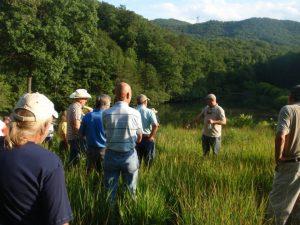 Private Lands Biologist Andy Rosenberger leading a landowner workshop.