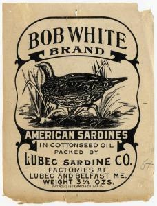 Bob-White Brand tin of sardines, featuring a bobwhite.