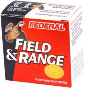 Federal Field and Range shotgun shells, featuring a bobwhite.