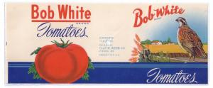 Bob-White Brand can of tomatoes.