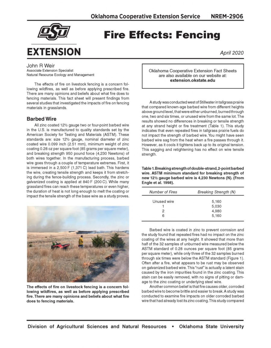 Fire Effects: Fencing